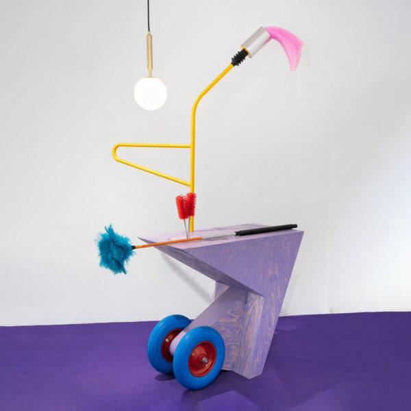 Wohnungsmassagewagen (trolley + puddle)